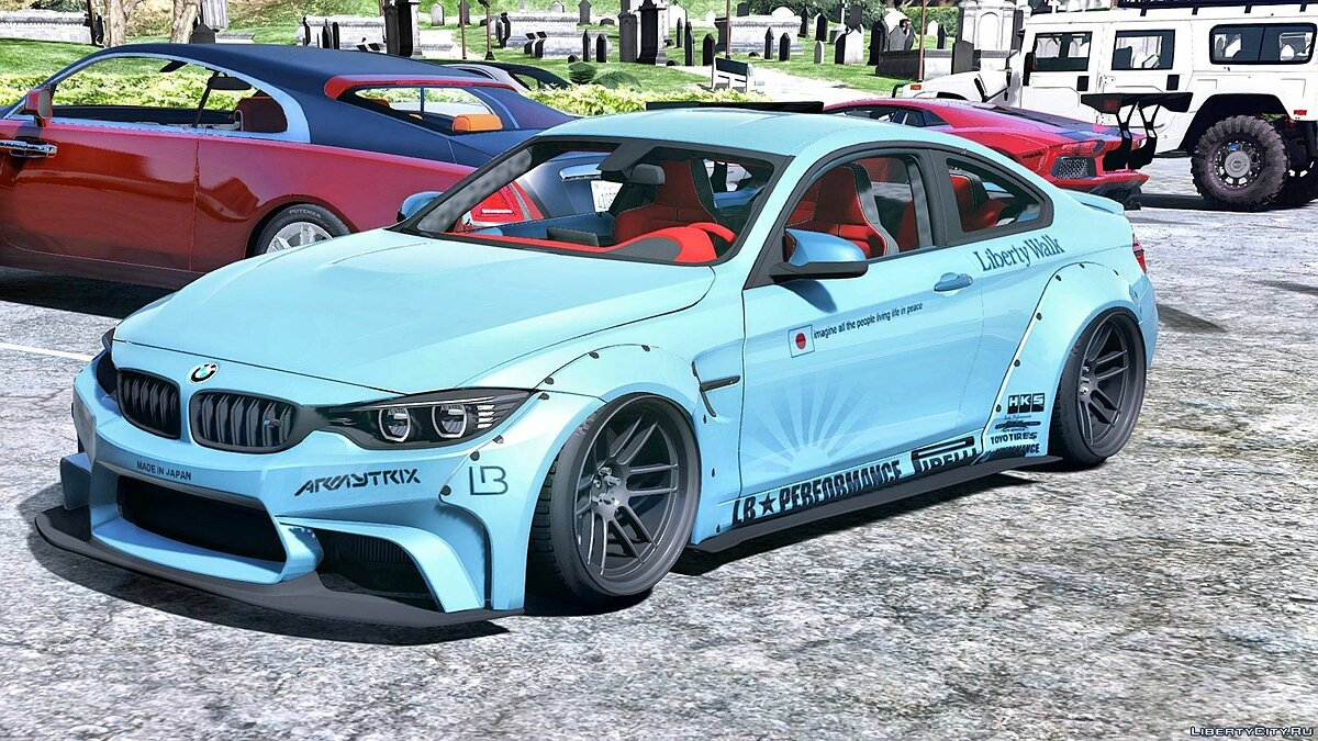 BMW M4 F82 LibertyWalk 1.3 для GTA 5 - скриншот #6