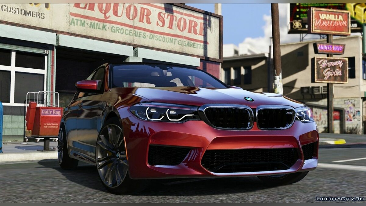 ��ашина BMW 2018 BMW M5 F90 RWD-xDrive v.1.3HSN[Replace/HQ/Template/RealPhysics] 1.3HSN для GTA 5