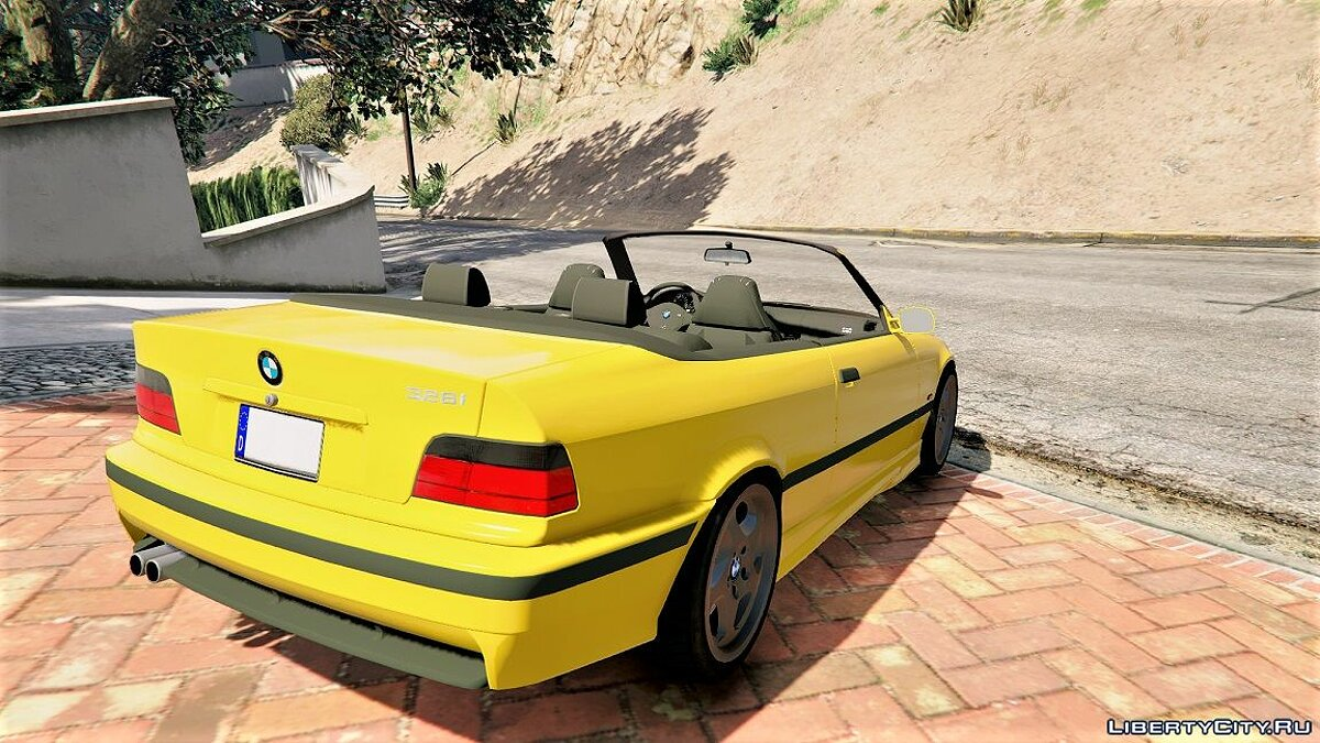 BMW E36 328i M-Sport Cabrio [Replace] 1.3 для GTA 5 - скриншот #3