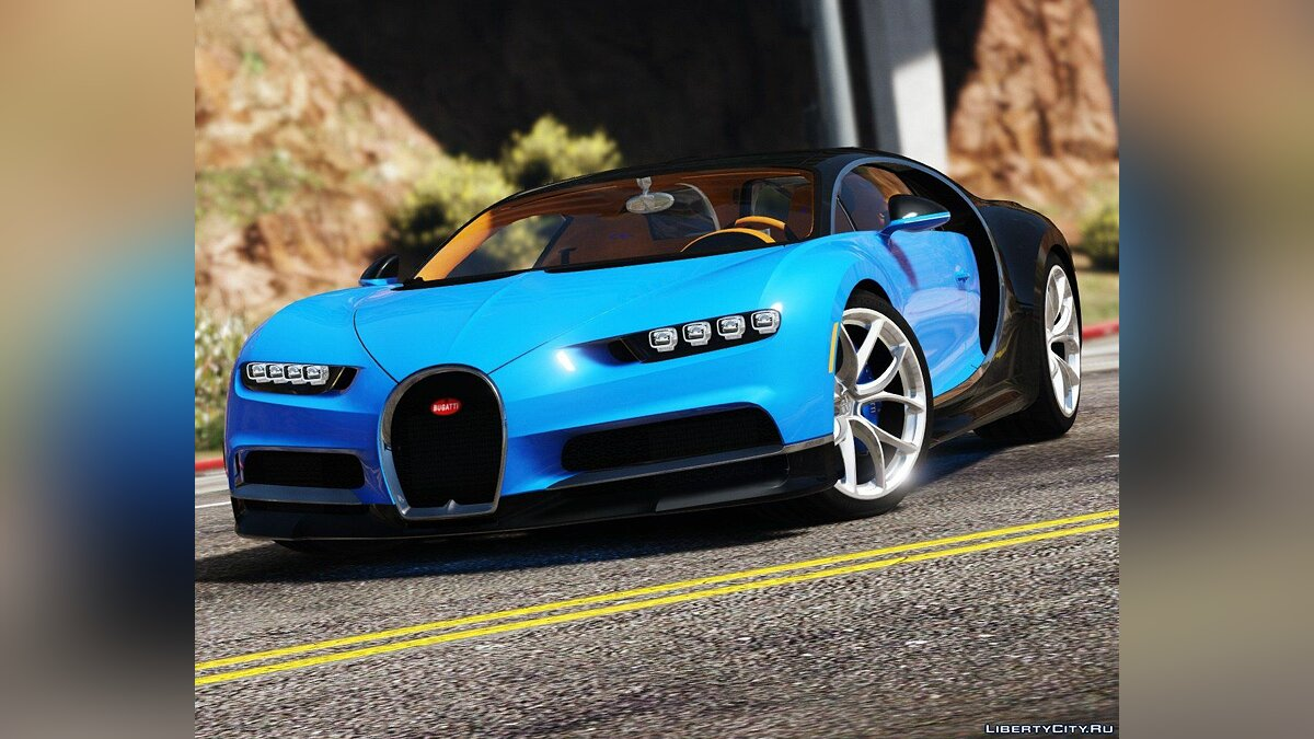2017 Bugatti Chiron (Retexture) [Add-On / Replace | Auto Spoiler | HQ] 4.0 для GTA 5