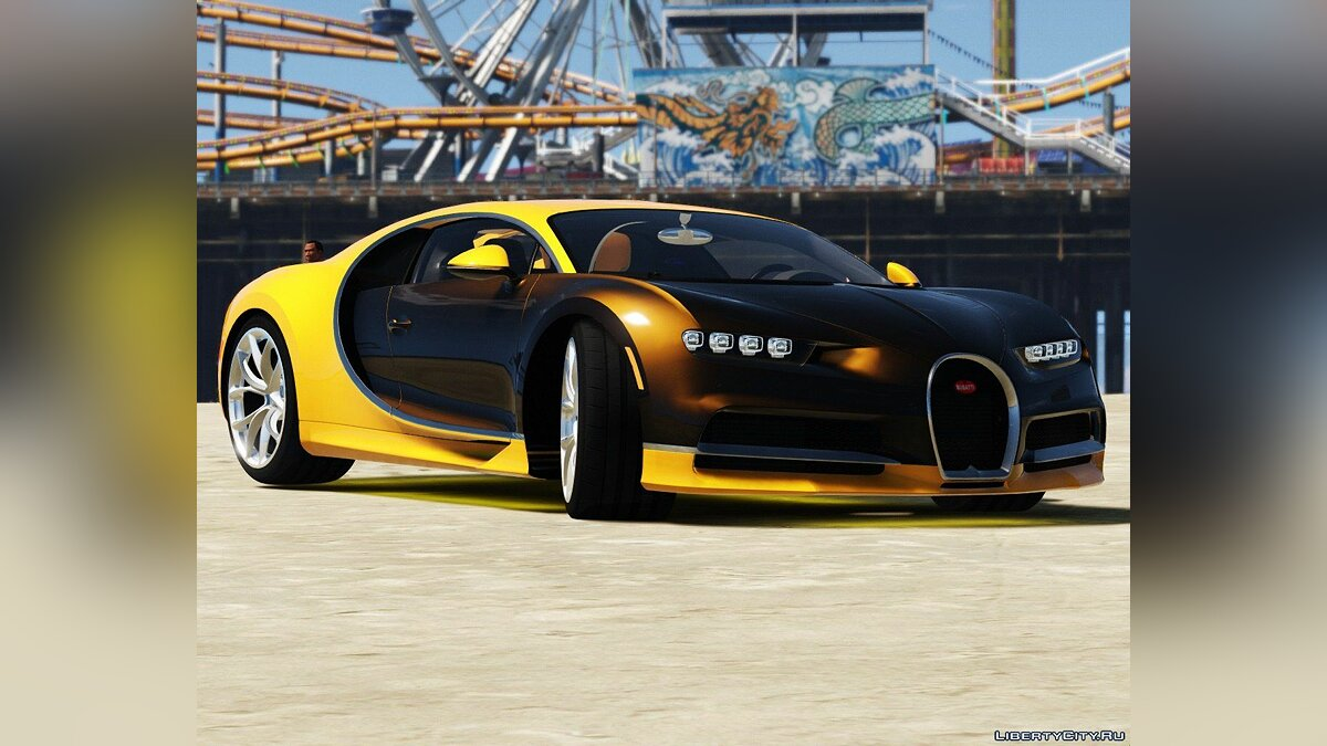 2017 Bugatti Chiron (Retexture) [Add-On / Replace | Auto Spoiler | HQ] 4.0 для GTA 5 - скриншот #8