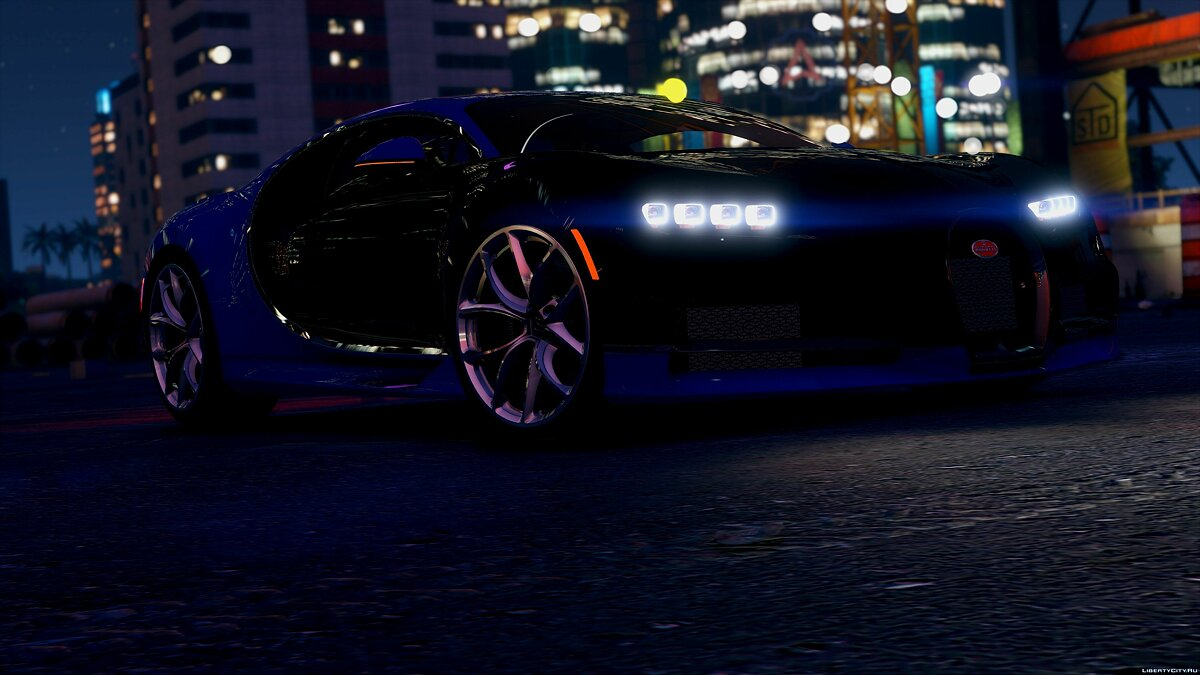 2017 Bugatti Chiron (Retextured) [Add-On / Replace | Auto Spoiler | HQ] 3.2 для GTA 5
