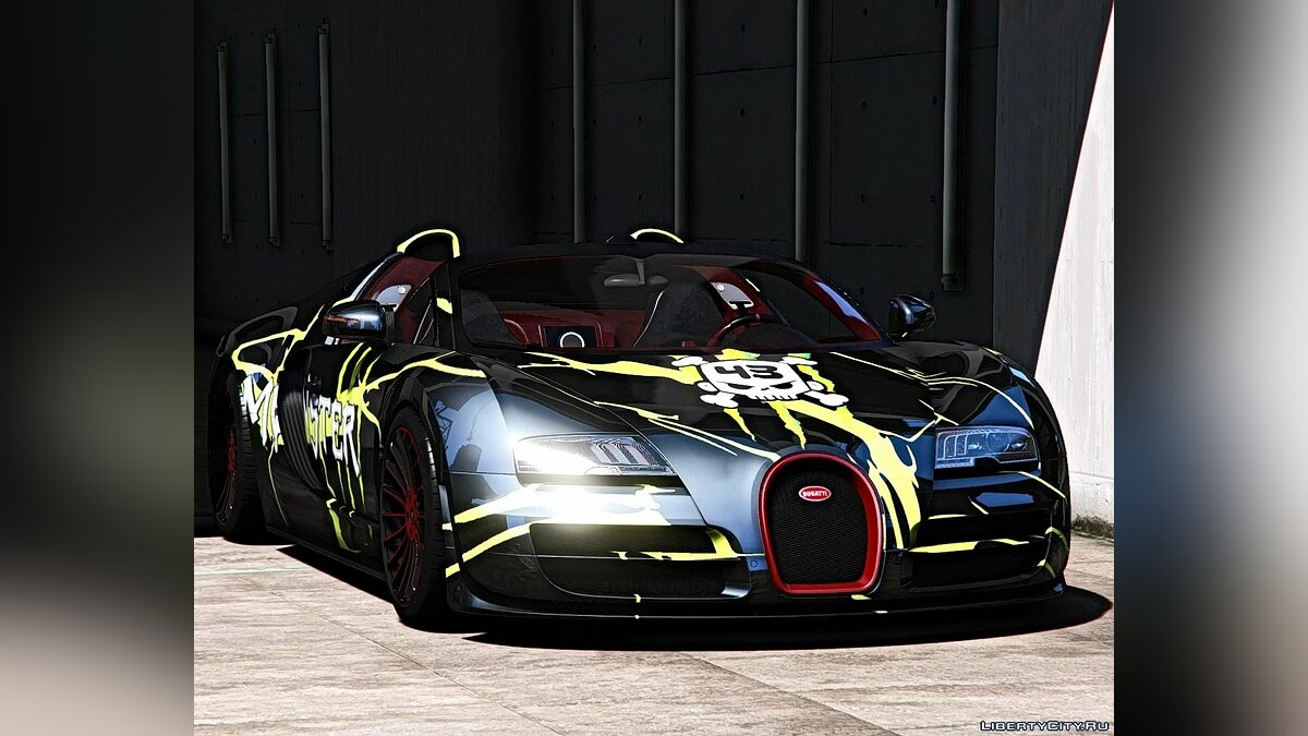 Машина Bugatti Bugatti Veyron Vitesse [Add-On | Auto-spoiler | Tuning | Wheels | Extras | Template] 1.0 для GTA 5