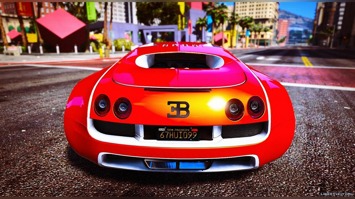 Bugatti Veyron [Replace + Add-on + Tuning] Final для GTA 5 - скриншот #4