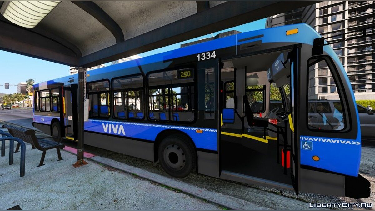 Автобус YRT Based LS Transit 2nd Generation Novabus LFS 1.0 для GTA 5