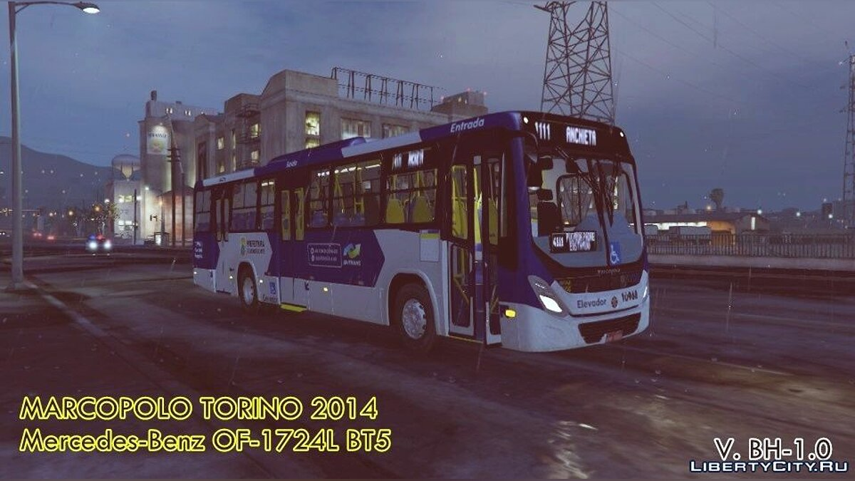 Автобус Marcopolo Torino 2014 MB OF-1724L (Replace | Livery) 0.1 для GTA 5