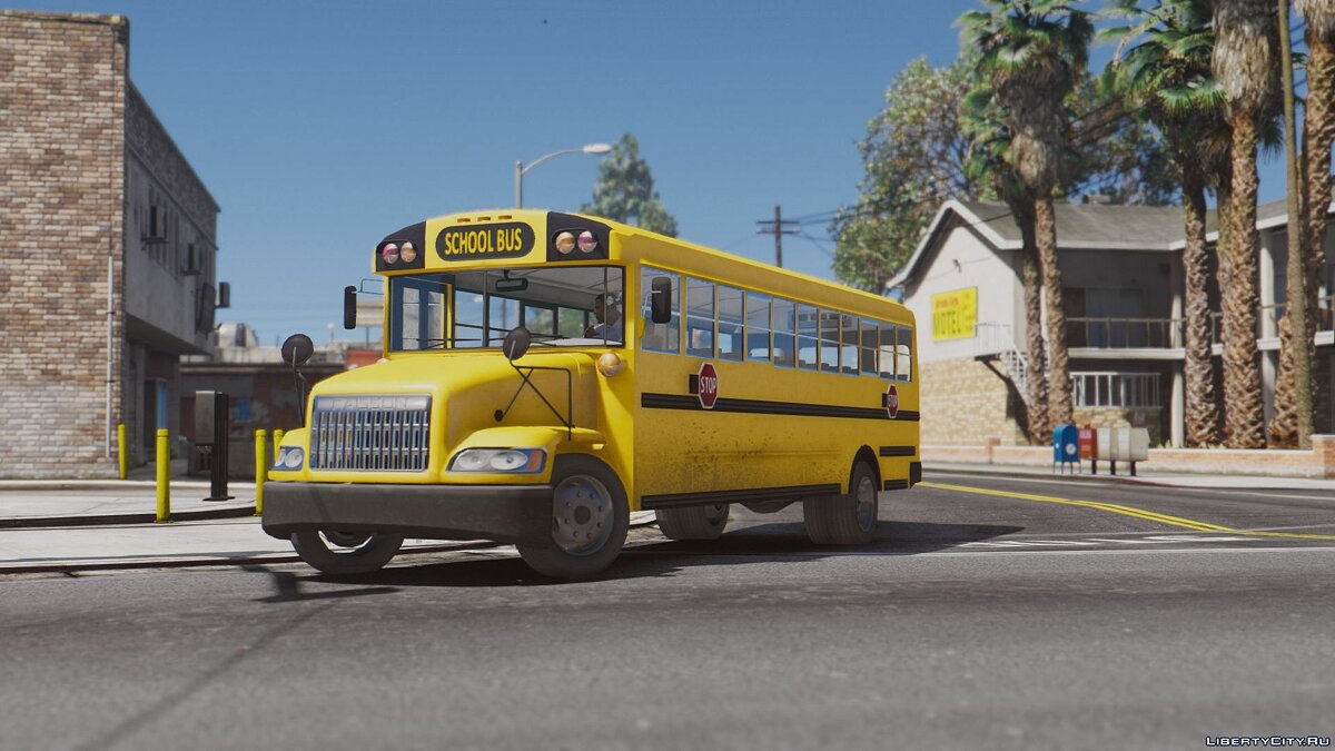 Caisson Elementary C School Bus [Add-On Replace Wipers] для GTA 5