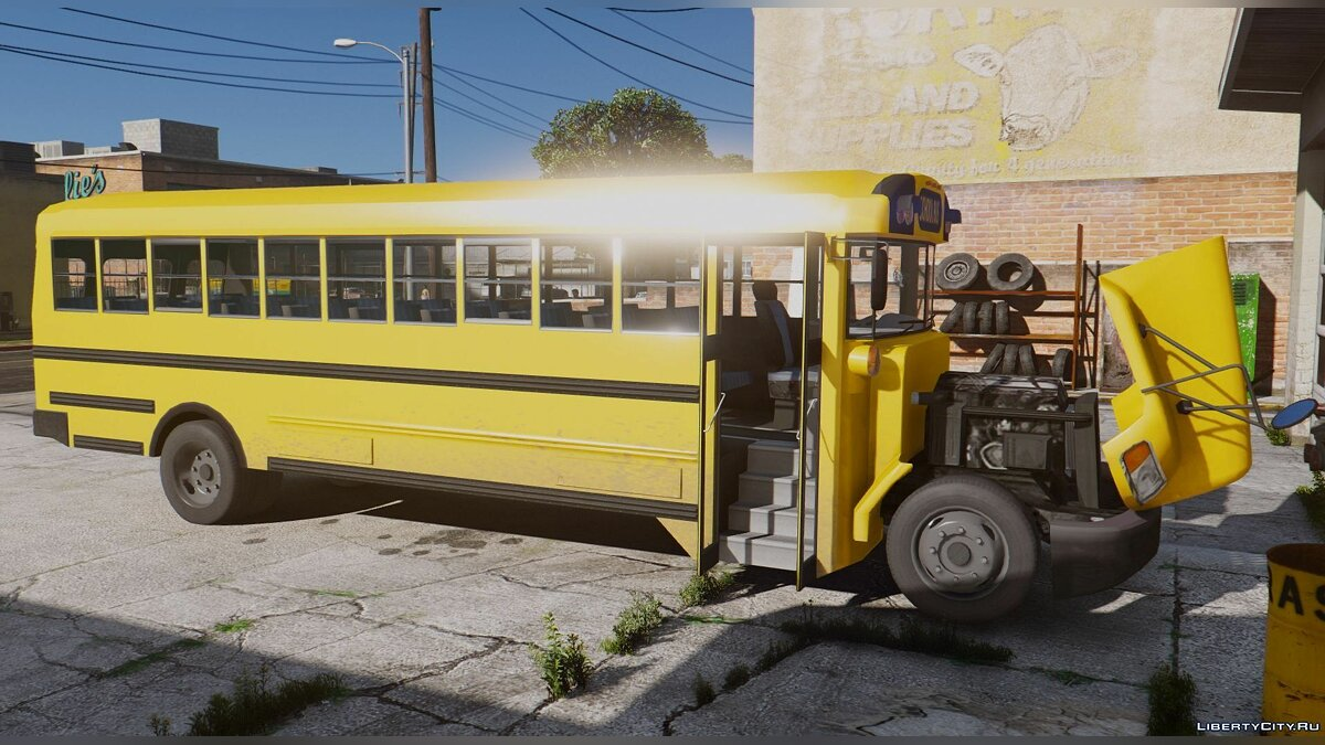 Caisson Elementary C School Bus [Add-On Replace Wipers] для GTA 5 - скриншот #2