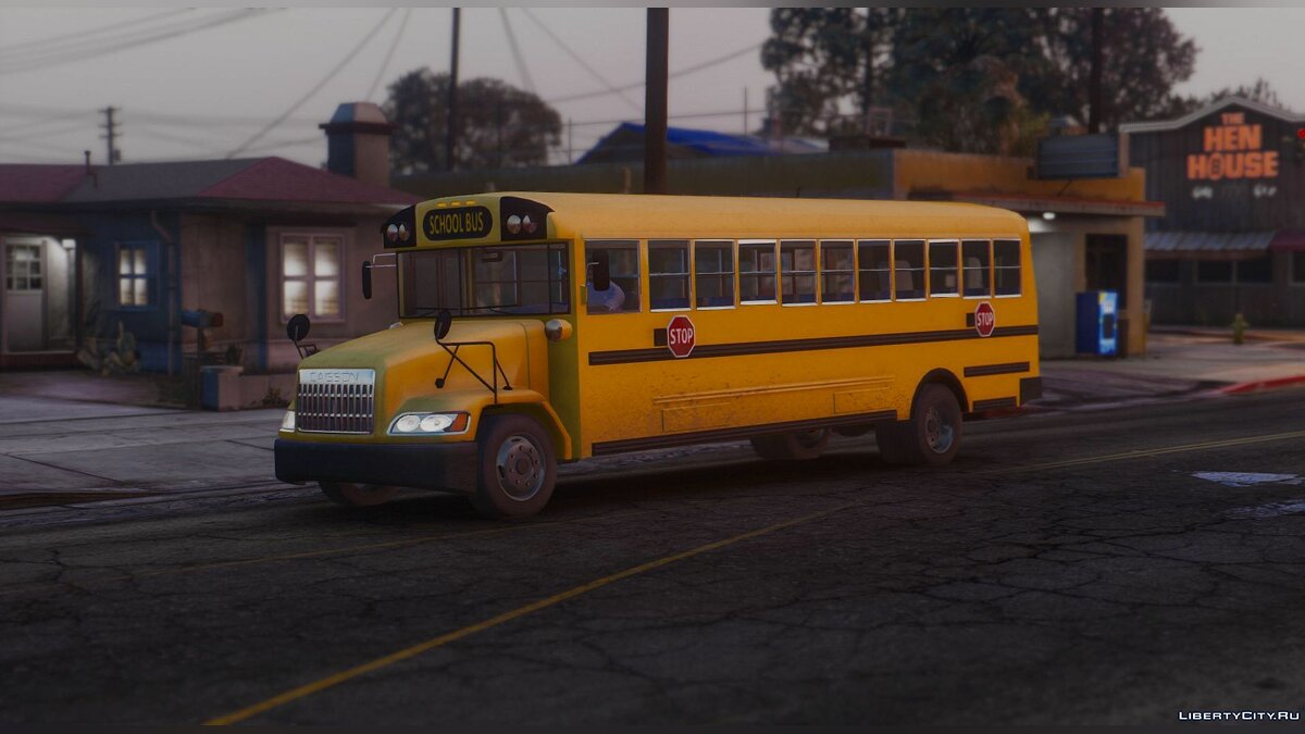 Caisson Elementary C School Bus [Add-On Replace Wipers] для GTA 5 - скриншот #5