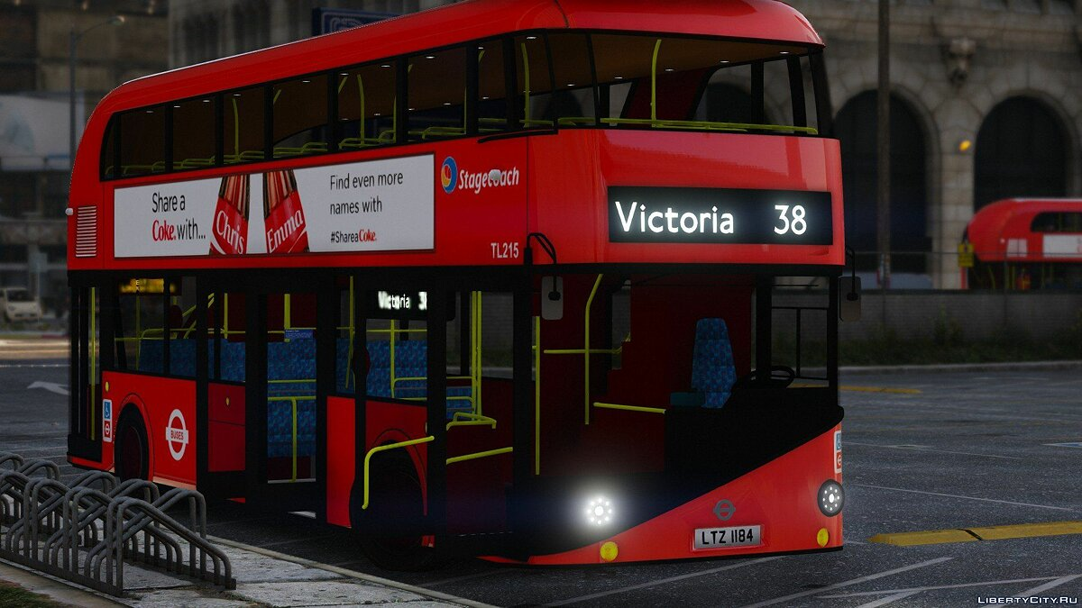 Автобус New Bus for London (Borismaster) [TEMPLATE] 1.1 для GTA 5