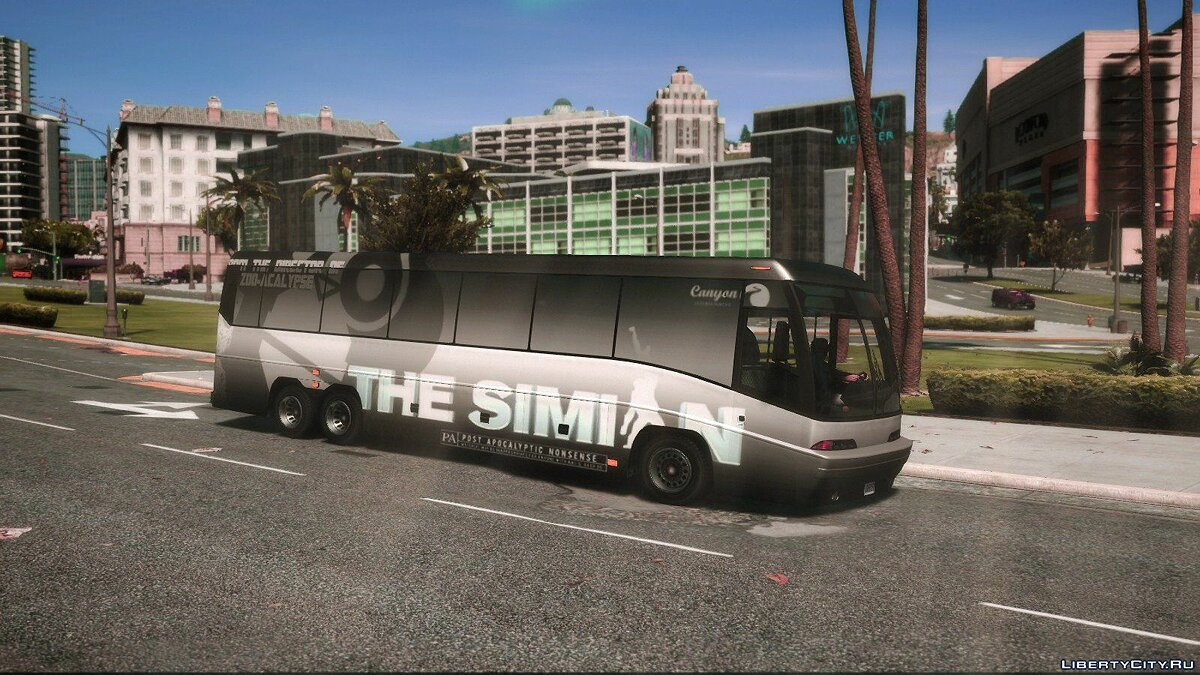 Автобус Dashound Bus - Wrapped - The Simian для GTA 5