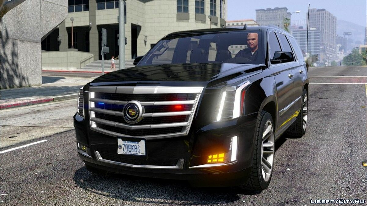 Cadillac Escalade FBI Petrol Vehicle 2015 [Replace] [FINAL] для GTA 5 - скриншот #3