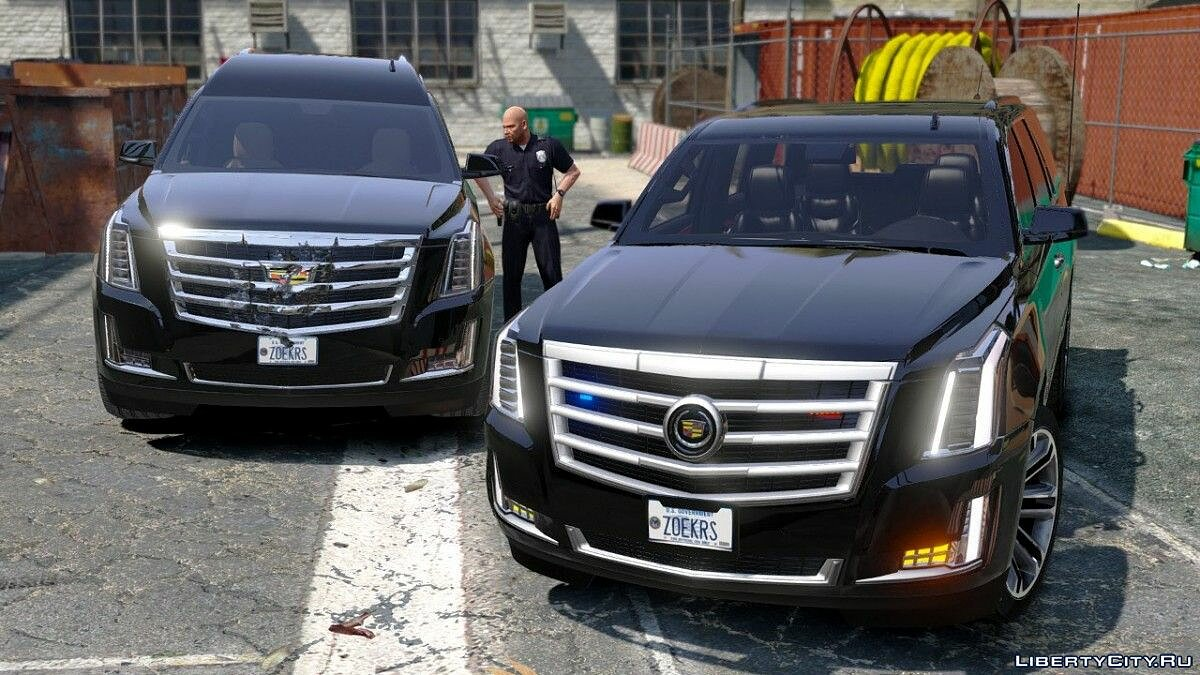 Cadillac Escalade FBI Petrol Vehicle 2015 [Replace] [FINAL] для GTA 5 - скриншот #2