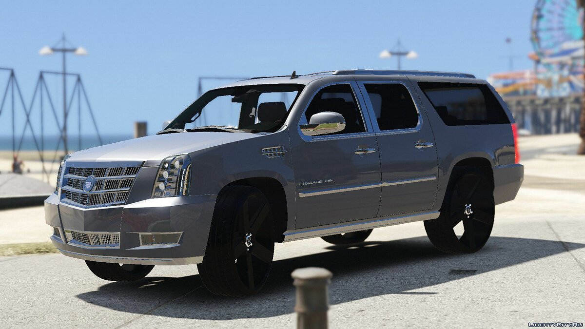 2012 Cadillac Escalade Platinum ESV [Replace] 1.0 для GTA 5 - скриншот #2