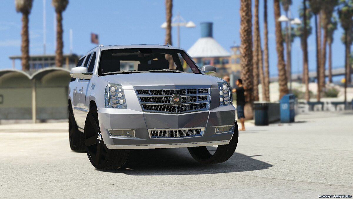 2012 Cadillac Escalade Platinum ESV [Replace] 1.0 для GTA 5 - скриншот #3