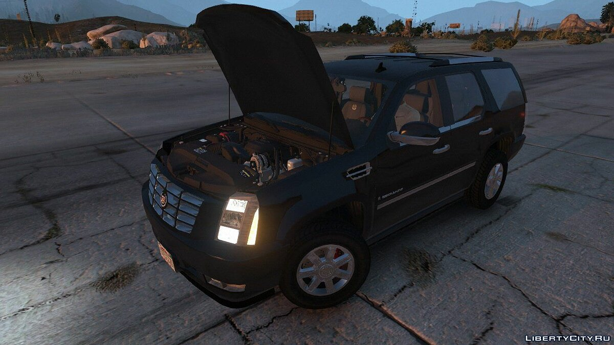 2007 Cadillac Escalade [Template | HQ Engine] 1.01 для GTA 5 - скриншот #5