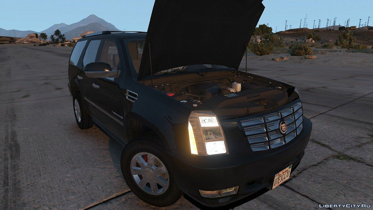 2007 Cadillac Escalade [Template | HQ Engine] 1.01 для GTA 5 - скриншот #6