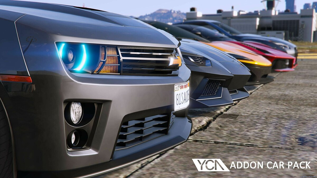 YCA Addon Car Pack 1.01 для GTA 5