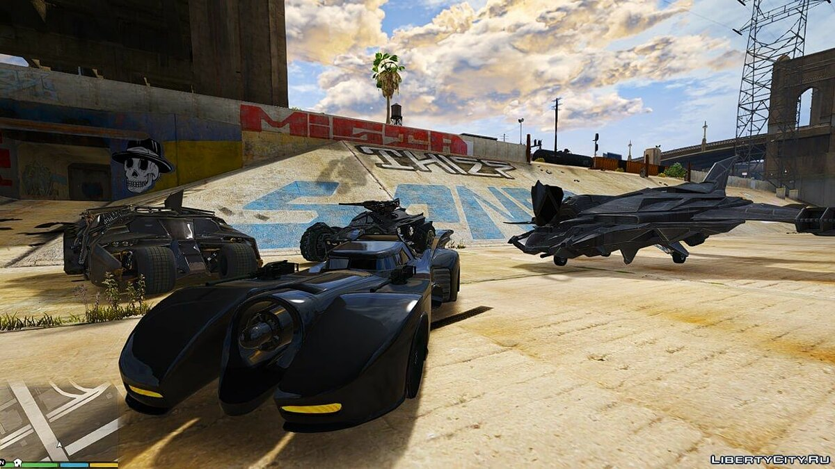 Batman Vehicles Add-On Pack для GTA 5