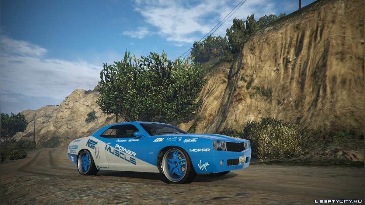 "Dodge ""Power Muscle"" Livery for Gauntlet Race v1.1 для GTA 5"