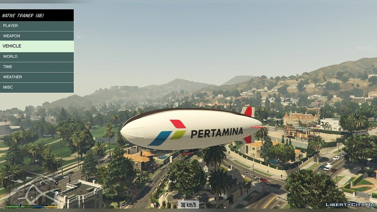 Indonesian Pertamina Blimp для GTA 5