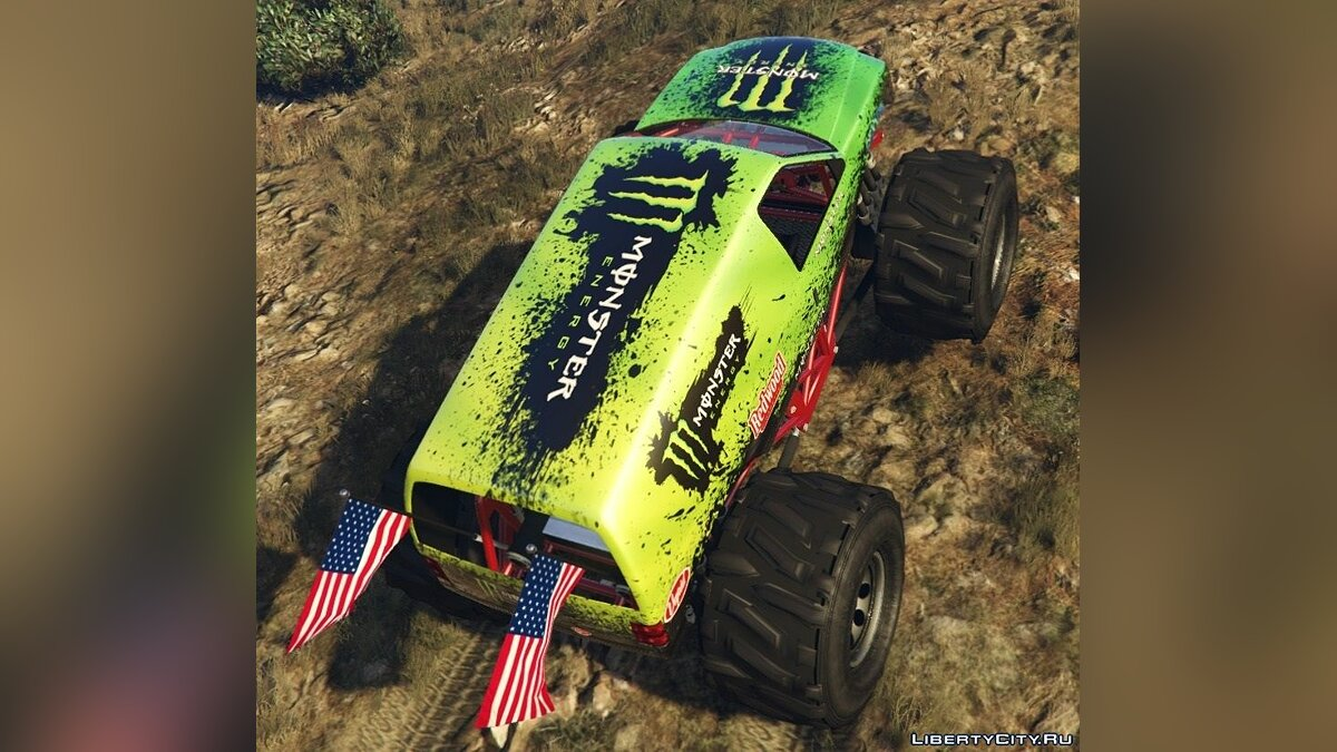 Текстура машины Monster Energy - Monster Truck для GTA 5