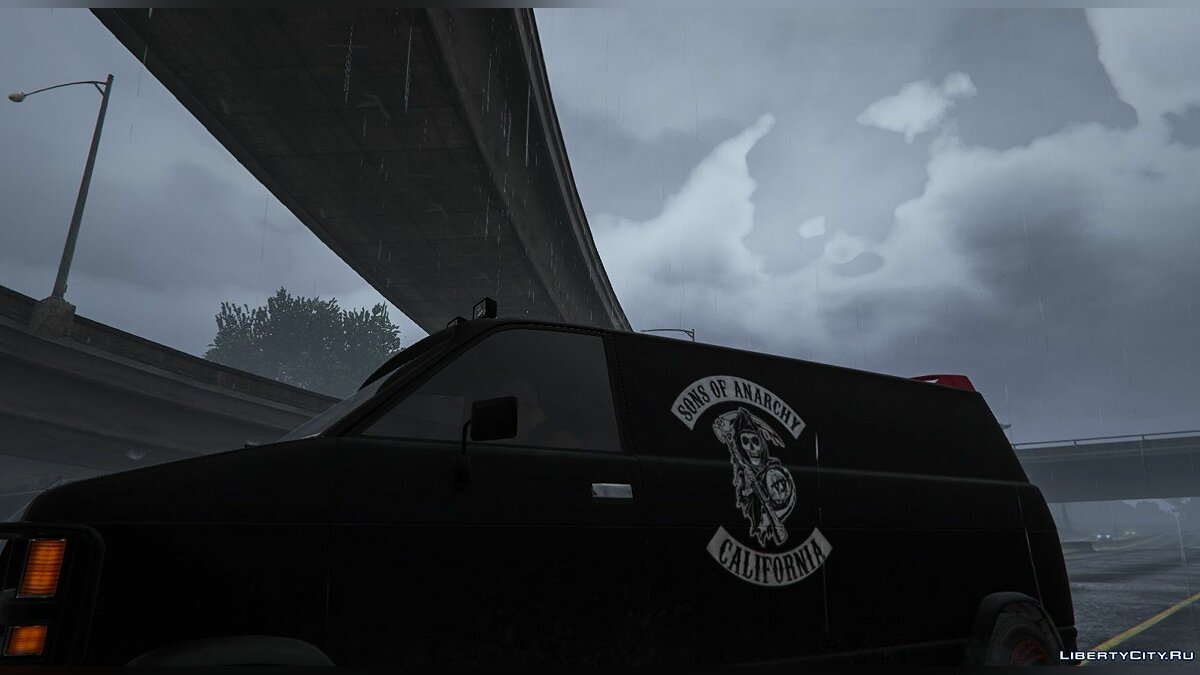 Текстура машины Sons of Anarchy Van для GTA 5