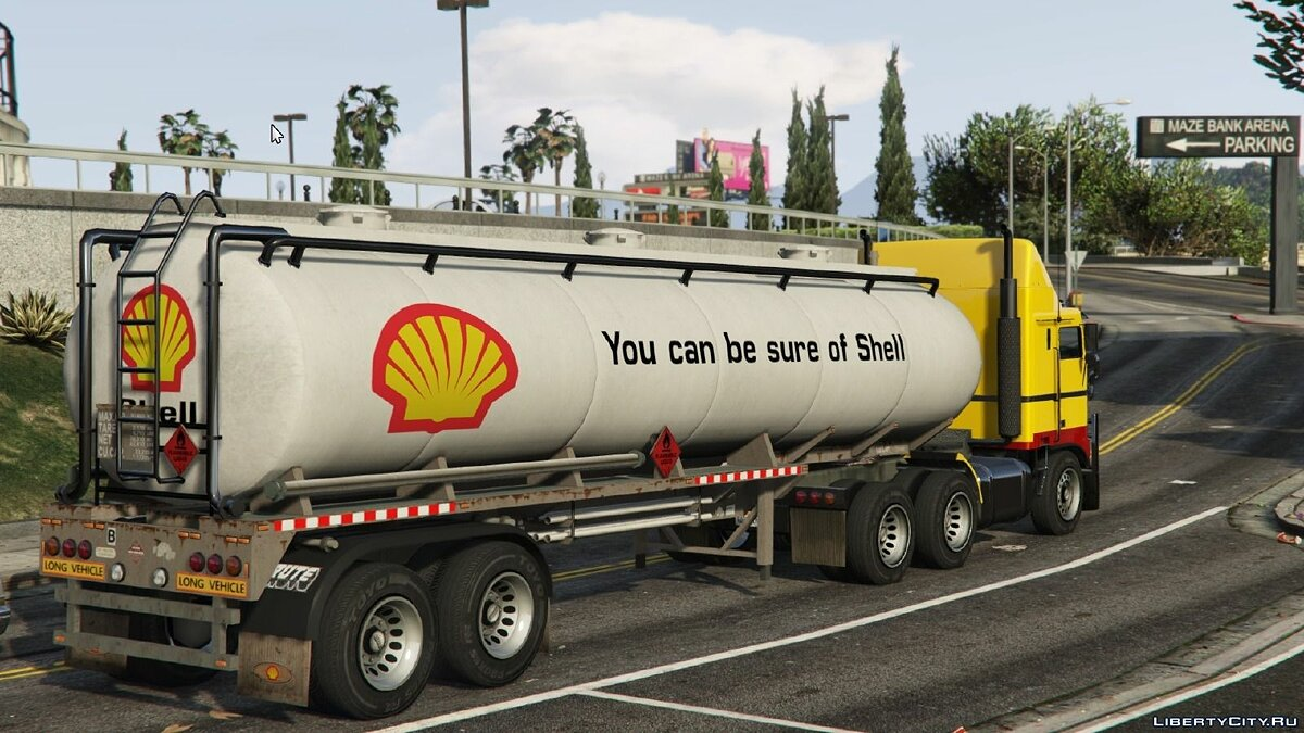 ��екстура машины Shell Trailer Tanker для GTA 5