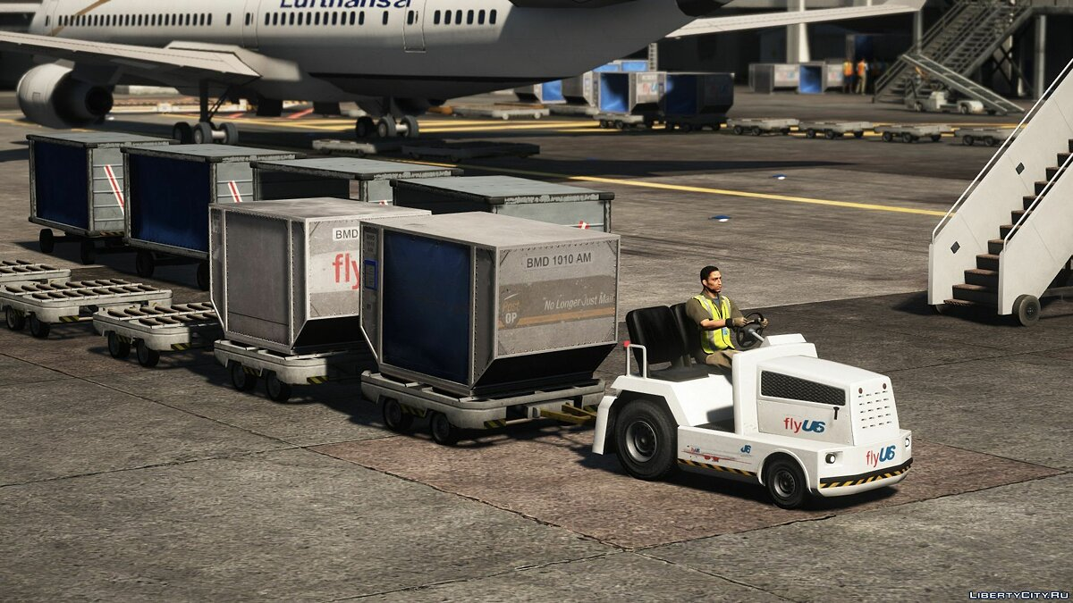 Машина Airport trailers [Add-On] 1.0 для GTA 5