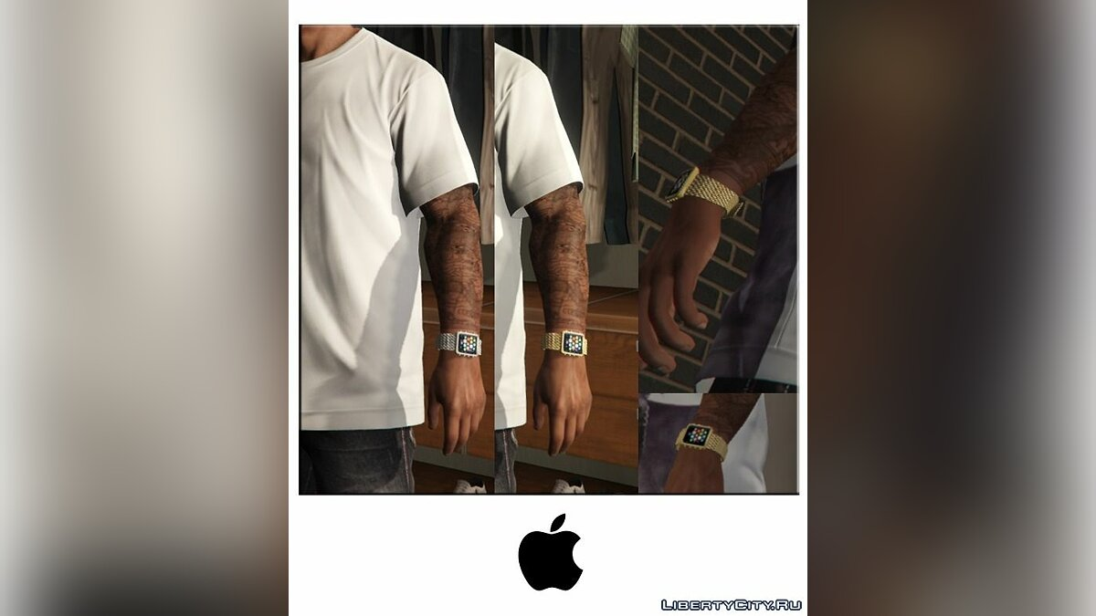 ��асы и украшение Apple Watch Gold/Silver for Franklin для GTA 5