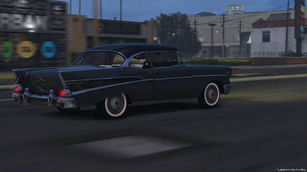 57´Chevy Bel Air [Add-On | Animated] 1.0 для GTA 5 - скриншот #2