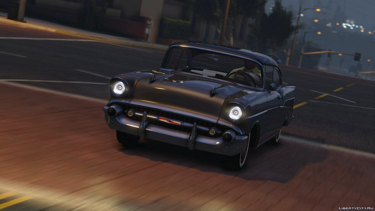 57´Chevy Bel Air [Add-On | Animated] 1.0 для GTA 5 - скриншот #4