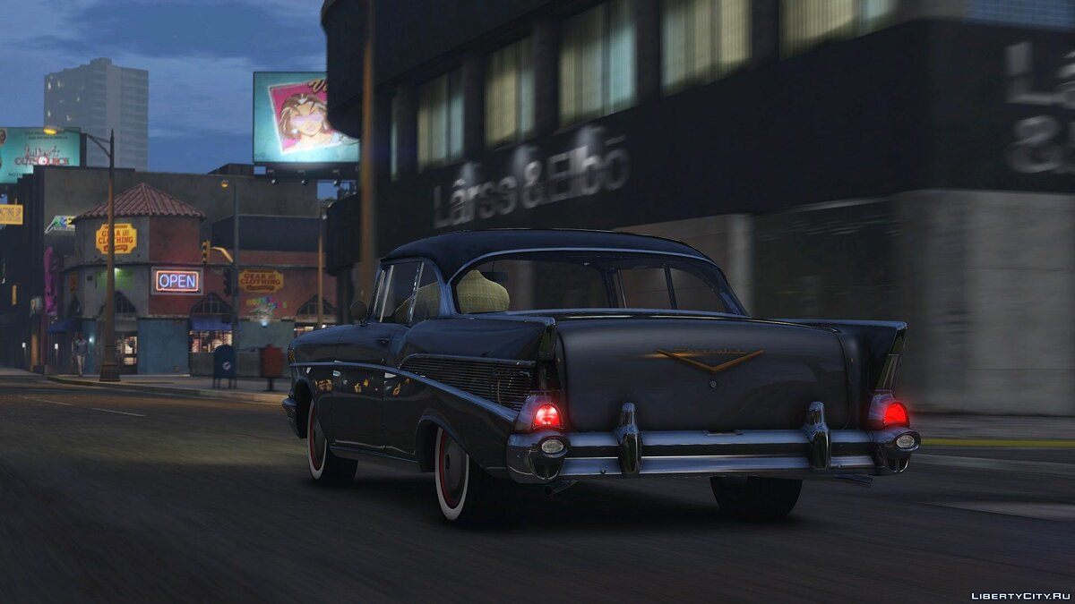 57´Chevy Bel Air [Add-On | Animated] 1.0 для GTA 5 - скриншот #5
