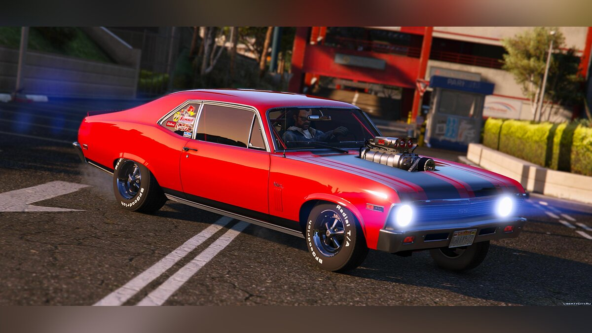1969 Chevrolet Nova [Add-On | Tunable | HQ] 1.3 для GTA 5 - скриншот #5