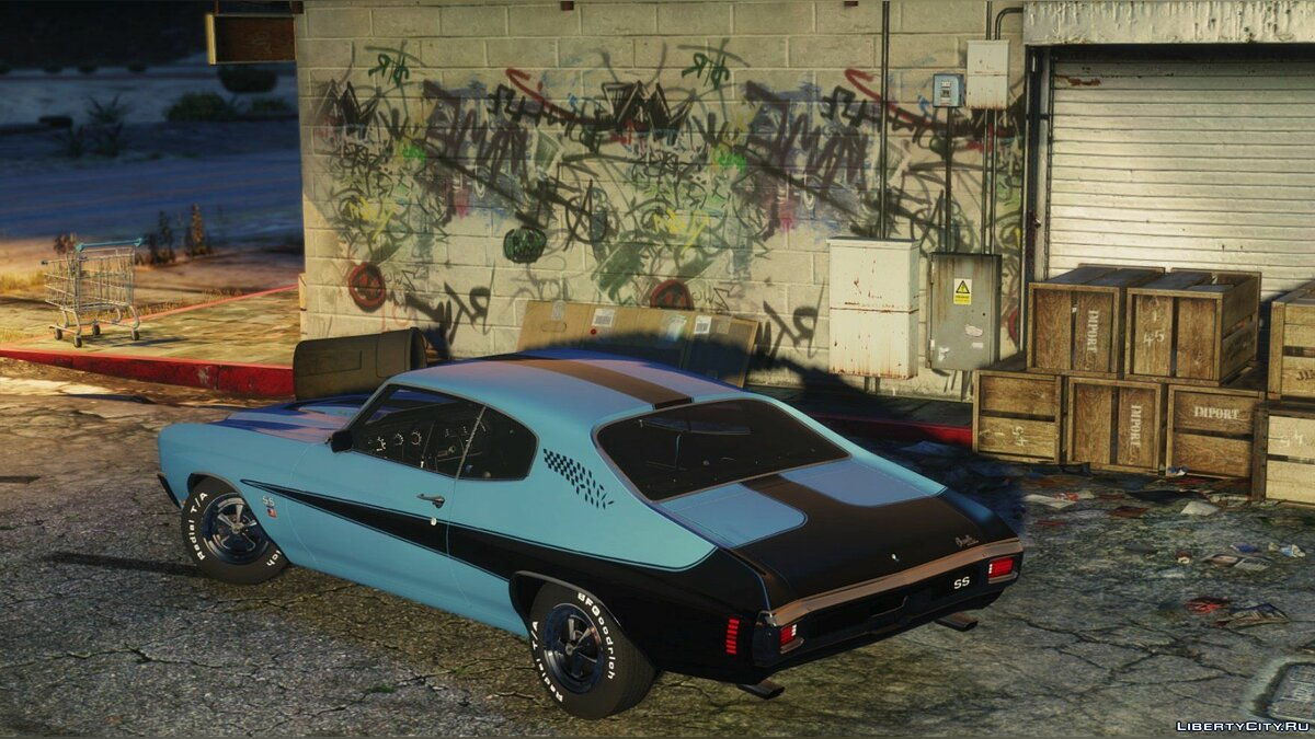 1970 Chevrolet Chevelle SS 454 [Add-On | HQ | Template] 1.0 для GTA 5 - скриншот #7