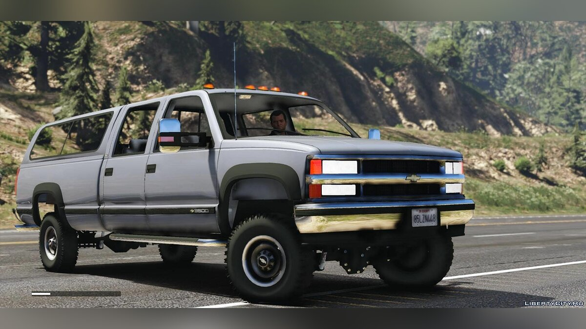 ��ашина Chevrolet Chevrolet Silverado 3500 LS Crew Cab 4x4 1999 [Add-On | Replace | Extras] 0.8 для GTA 5