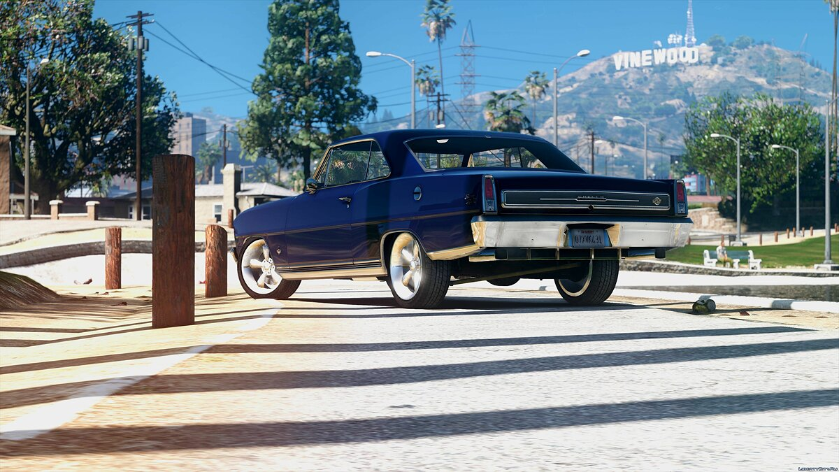 1966 Chevrolet II Nova SS [Add-On / Replace | Tuning | HQ] 2.2 для GTA 5 - скриншот #2