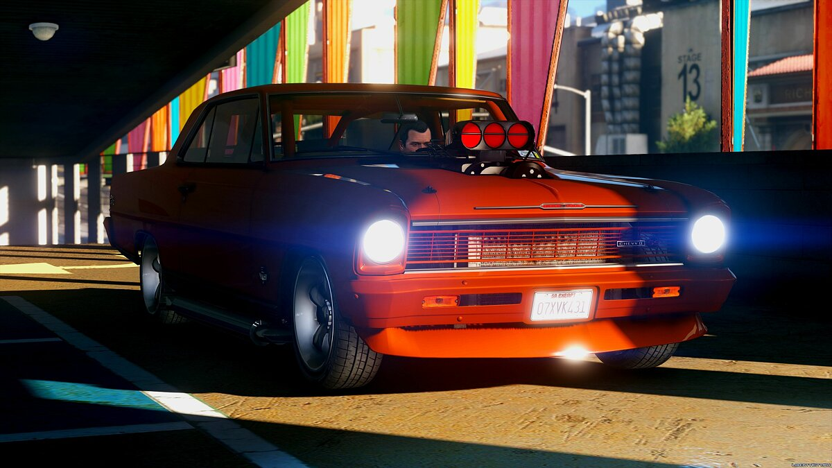 1966 Chevrolet II Nova SS [Add-On / Replace | Tuning | HQ] 2.2 для GTA 5 - скриншот #3