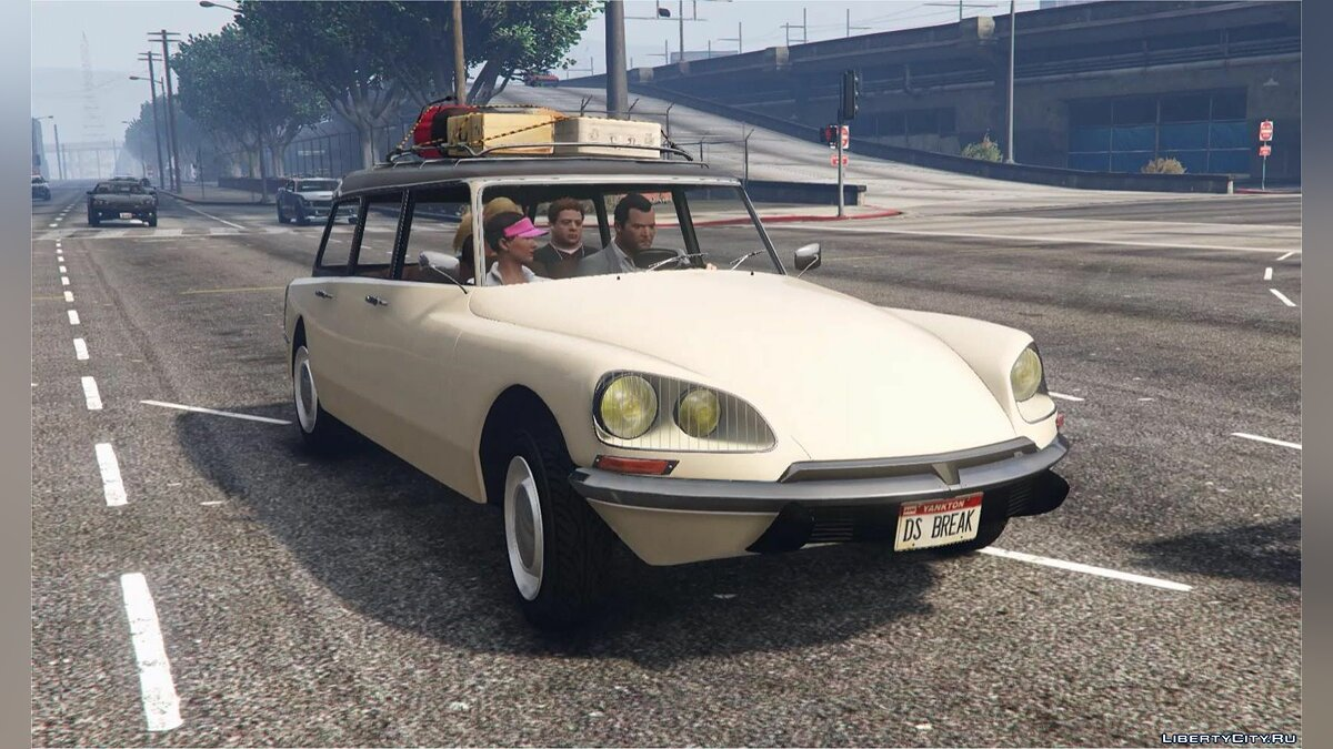 Машина Citroën CITROËN DS Break [Add-On / Replace | LODS] 1.0 для GTA 5