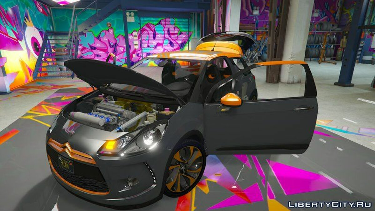 Машина Citroën 2011 Citroën DS3 Racing для GTA 5