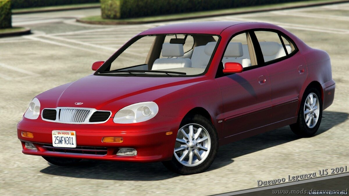 2001 Daewoo Leganza US [Add-On + Tuning or Replace] v1.3.1 для GTA 5