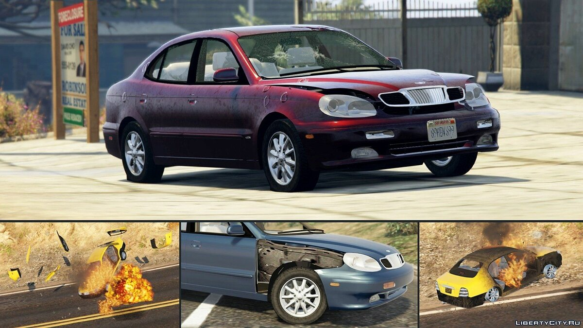 2001 Daewoo Leganza US [Add-On + Tuning or Replace] v1.3.1 для GTA 5 - скриншот #5