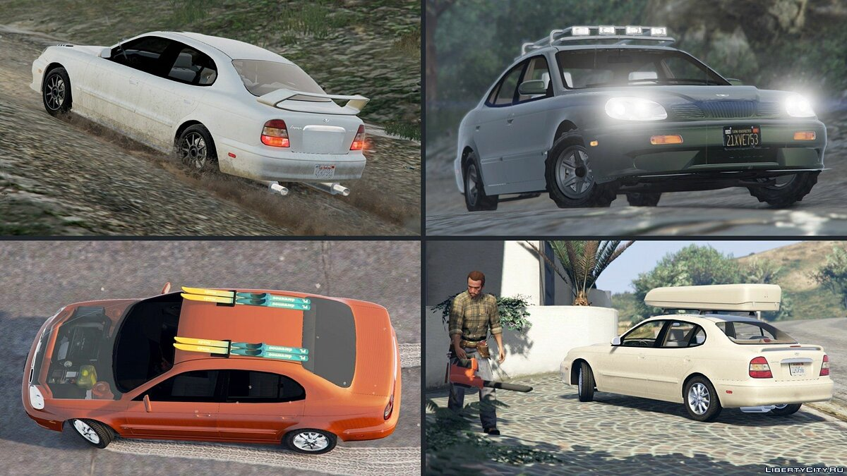 2001 Daewoo Leganza US [Add-On + Tuning or Replace] v1.3.1 для GTA 5 - скриншот #7