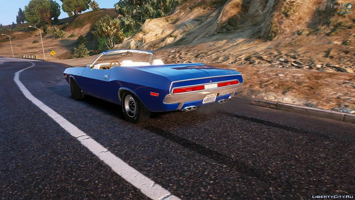 Машина Dodge 1970 Dodge Challenger Convertible | Fivem Ready | Replacement для GTA 5