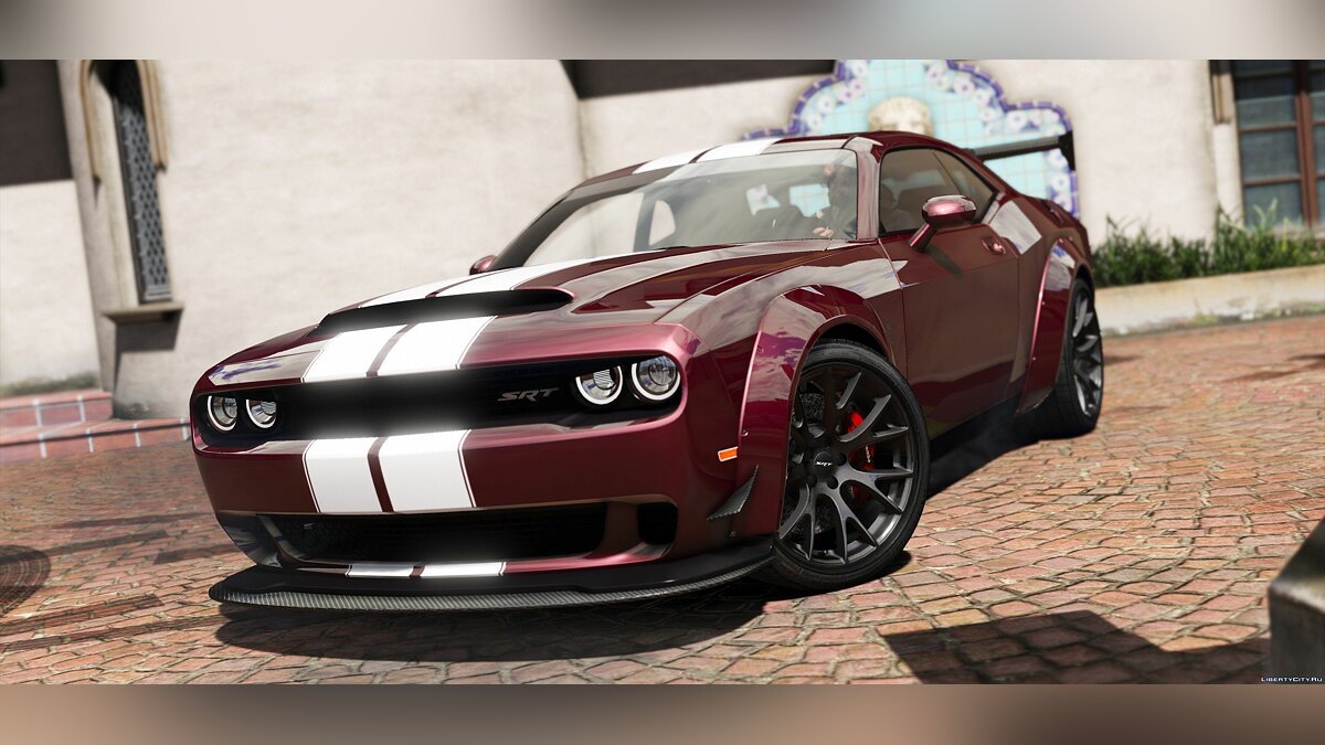 2016 Dodge Challenger [Stock / Shaker / Hellcat / Demon / Liberty Walk] 2.1 для GTA 5 - скриншот #4