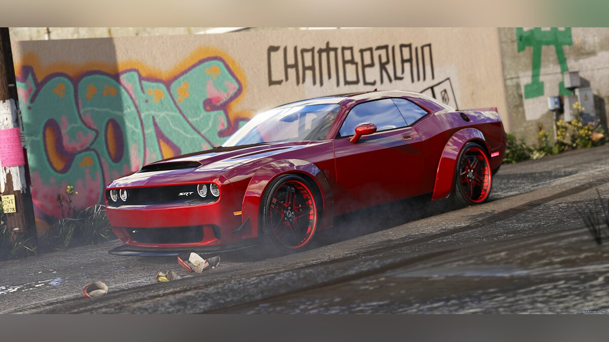 2016 Dodge Challenger [Stock / Shaker / Hellcat / Demon / Liberty Walk] 2.1 для GTA 5 - скриншот #5