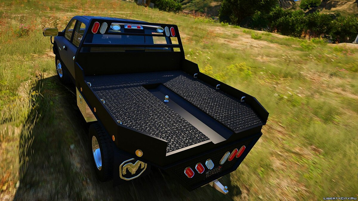 Машина Dodge 2010 Dodge Ram 3500 Steel Flatbed [Add-On] 1.0 для GTA 5