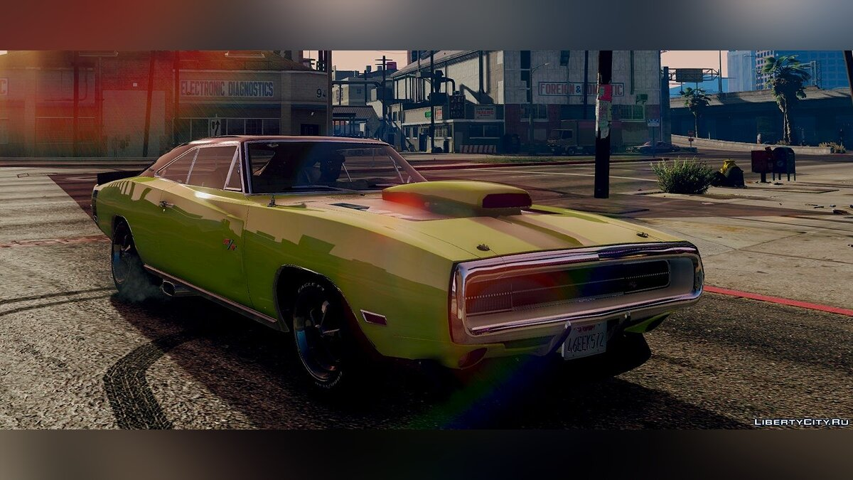 1970 Dodge Charger R/T [Tunable] 3.2 для GTA 5 - скриншот #2