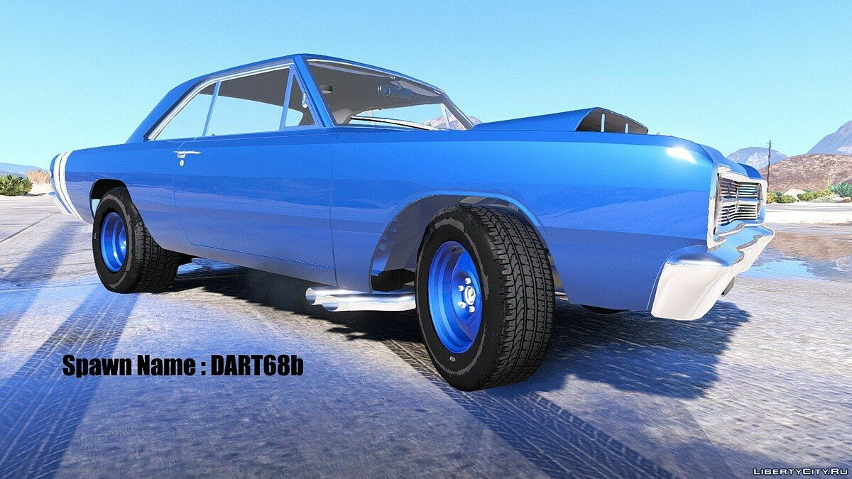 1968 Dodge Dart HEMI Super Stock [Add-On / Replace | Animated] 1.1 для GTA 5