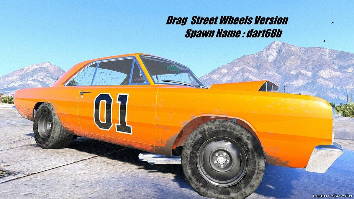 1968 Dodge Dart HEMI Super Stock [Add-On / Replace | Animated] 1.1 для GTA 5 - скриншот #2